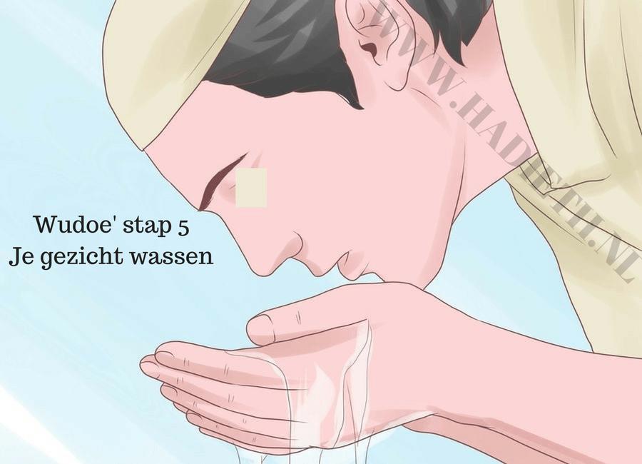 Wudoe' stap 5